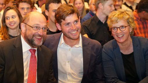 KorbinianRüger mit Martin Schulz und Natascha Kohnen
